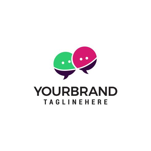 chat-logo ontwerp concept sjabloon vector