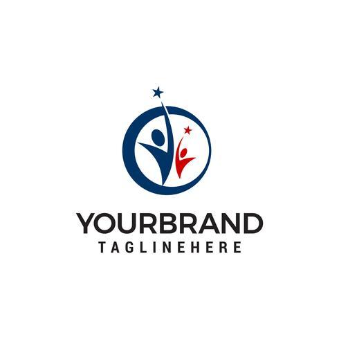 Bedrijfssucces mensen logo sjabloonontwerp vector