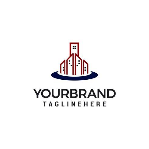 Bouwstad Logo Template vector illustratieontwerp