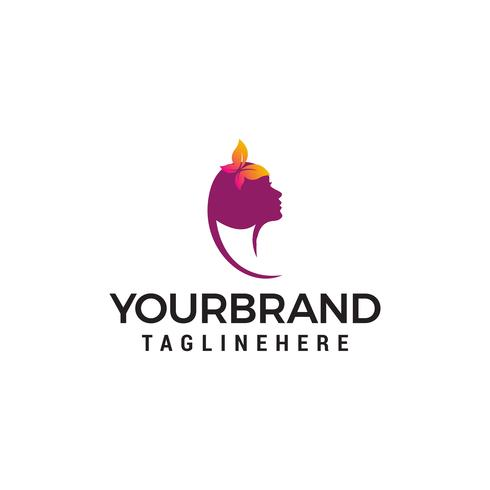 Schoonheid vrouwelijk gezicht Logo ontwerp. Schoonheidssalon logo ontwerpsjabloon Vectoren