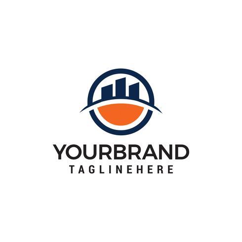stad gebouw logo Vector ontwerpsjabloon