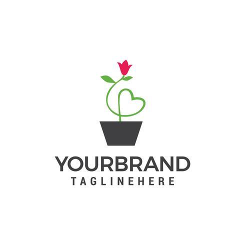 Bloemenvaas Logo. Vaas met bloemen eenvoudig stevig pictogram. Symbool, logo illustratie. vector
