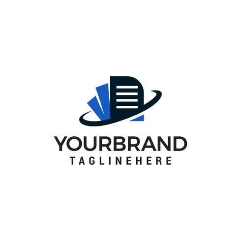 document Logo Template vector illustratie ontwerp
