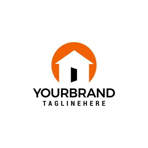 huis open deur logo ontwerpen sjabloon vector
