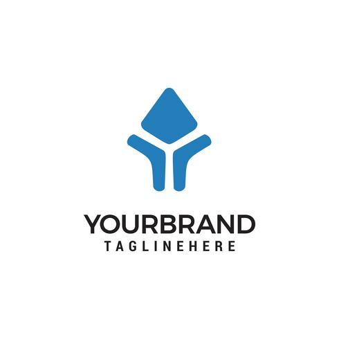pijlen logo vorm brief Y vorm ontwerp element sjabloon vector