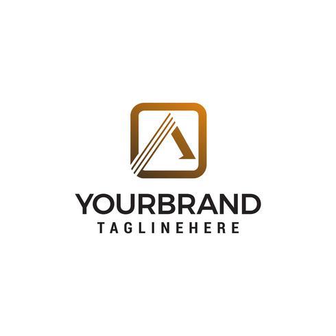 brief een borstel logo ontwerp concept sjabloon vector