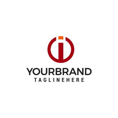 brief ik logo ontwerp concept sjabloon vector
