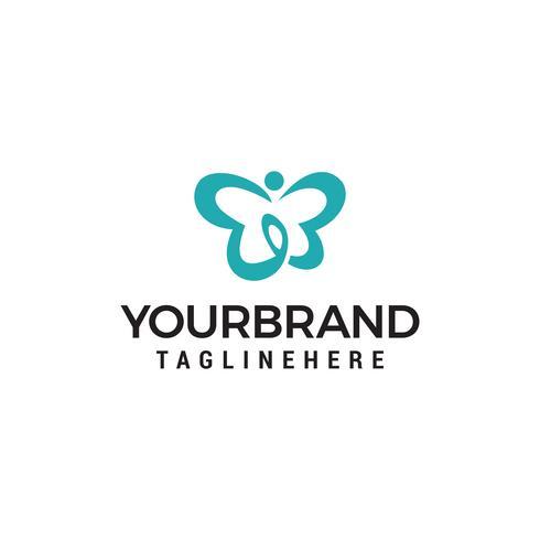 Vlinder logo ontwerpconcept vector