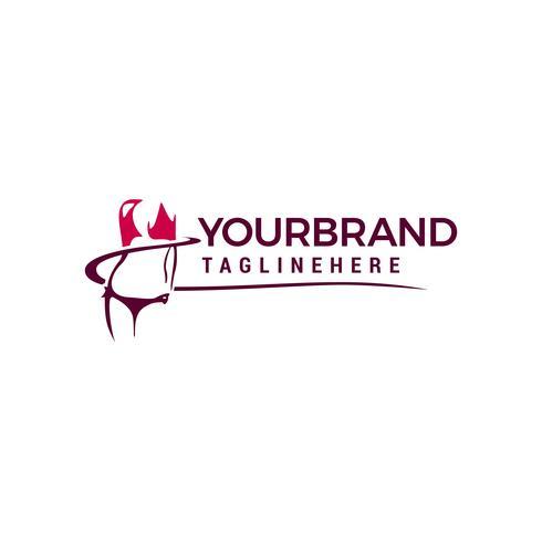Vrouwelijk lichaam illustratie logo ontwerpsjabloon elementen vector
