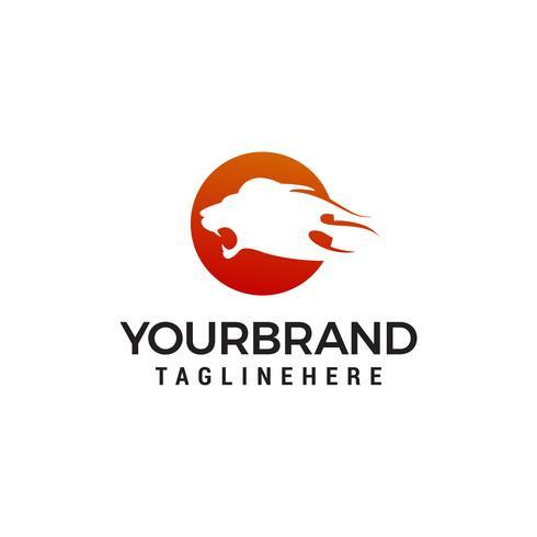 hoofd leeuw logo ontwerp concept sjabloon vector