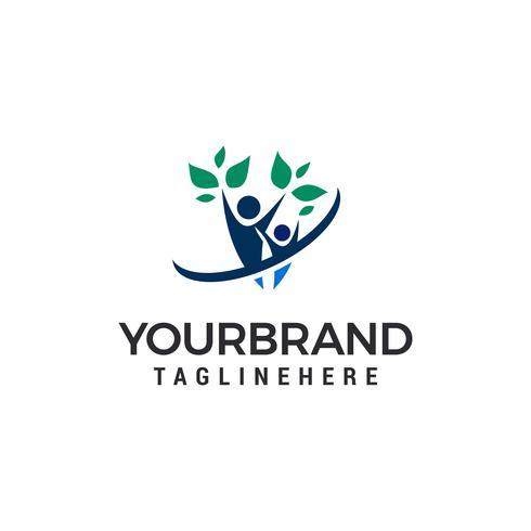 Gezondheidsmensen Logo Template vector illustratieontwerp