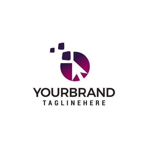 pijl Pixel Cursor logo ontwerpsjabloon concept vector