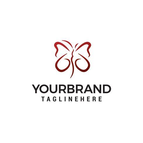 Vlinder logo ontwerpsjabloon concept vector