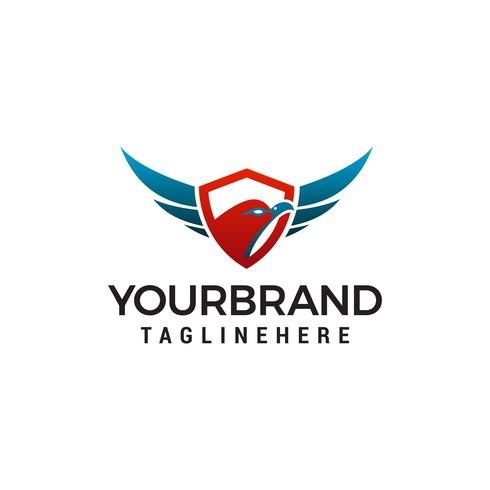 Eagle hoofd schild logo ontwerp concept sjabloon vector