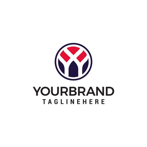 eerste letter Y logo binnen cirkel vorm Ontwerpsjabloon vector