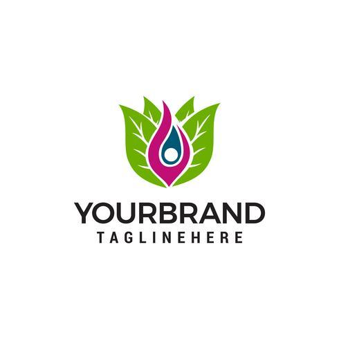 Leaf mensen gezond Healthcare-logo vector