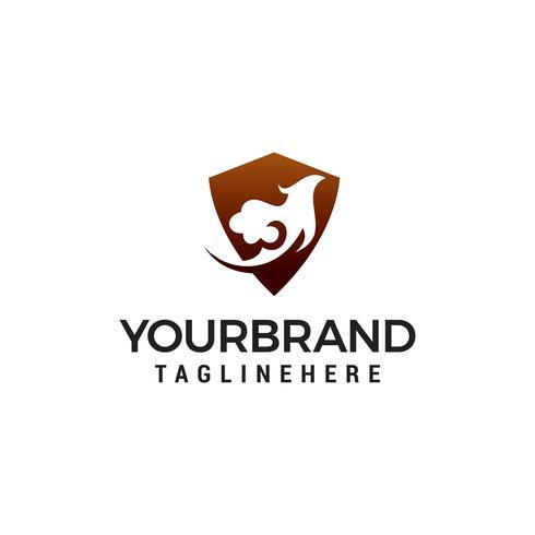 adelaar en schild logo ontwerp concept sjabloon vector