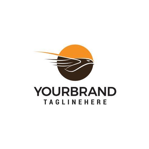 vliegende adelaar logo ontwerp concept sjabloon vector