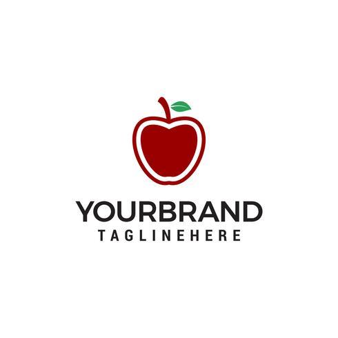 Modern en eenvoudig Apple-conceptontwerp voor eenvoudig logo vector