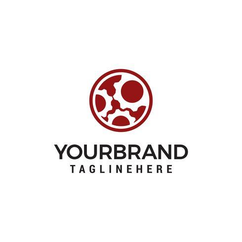 tandwiel cirkel logo ontwerpen sjabloon vector