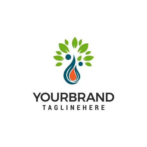 waterdruppel eco blad Logo Template vector illustratie ontwerp