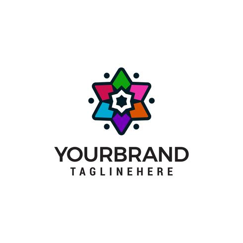 Sterren multicolor logo ontwerp concept sjabloon vector