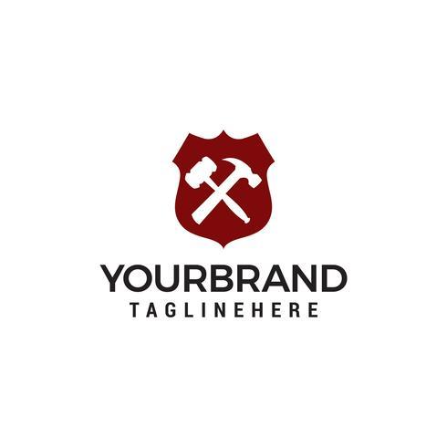 Schild reparatie loodgieterswerk Logo sjabloonontwerp vector
