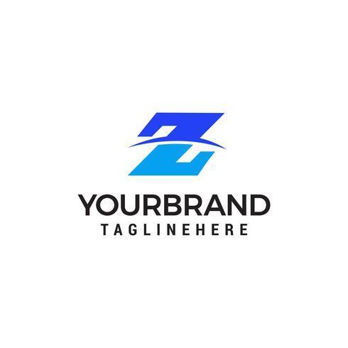 Z Brief logo ontwerpconcept vector