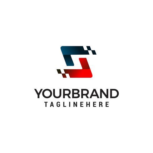 Letter S pixel logo ontwerpsjabloon concept vector