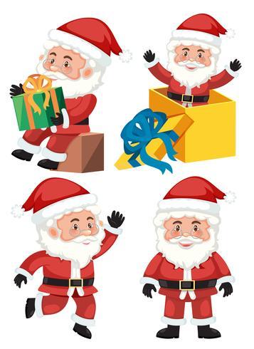 Een set kerstman vector
