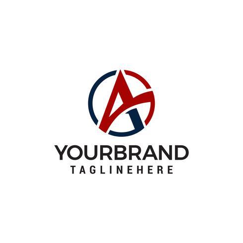 Letter A cirkel logo-ontwerp concept sjabloon vector