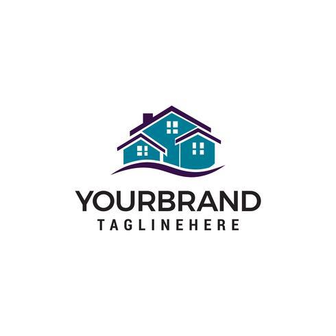 Creatief onroerend goed logo ontwerp. House-logo vector