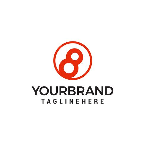 acht bal logo vector