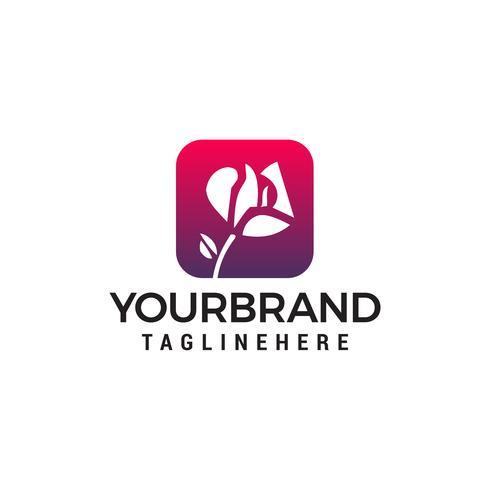 bloem cosmetische logo-ontwerp concept sjabloon vector