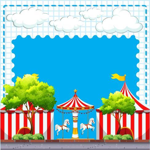 Scène uit het circus overdag vector