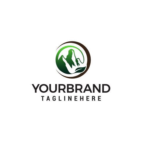 blad bergen logo ontwerp concept sjabloon vector