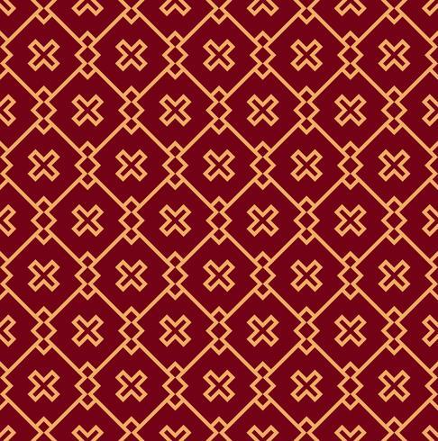 Naadloos vectorornament. Modern modieus geometrisch lineair patroon met gouden kleur vector