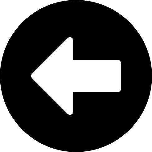 Vector linker pijlpictogram