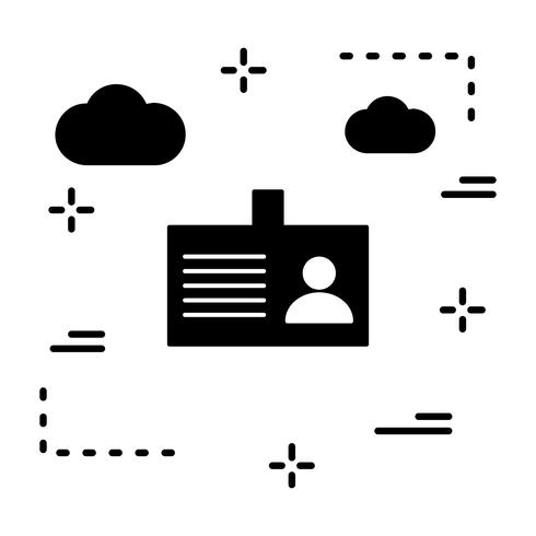 Vector identiteitskaart pictogram