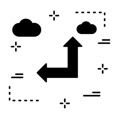 Vector stijgende en linker pijlpictogram