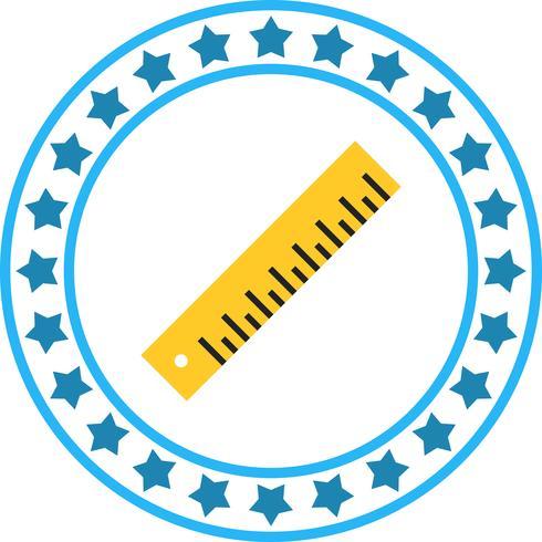 Vector liniaal pictogram