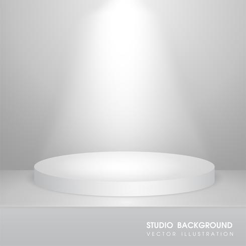 Vectortabel met tapijt in de studio Voor het maken van reclamemedia voor de verkoop van producten. vector