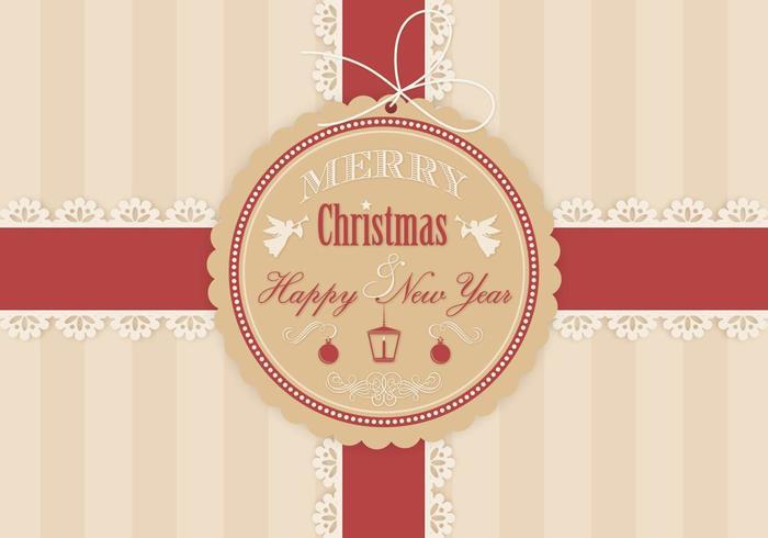 Kerstcadeau achtergrond Vector