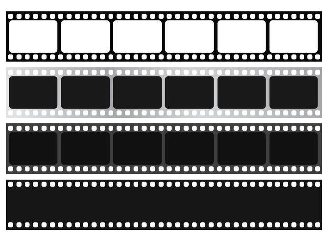 Filmstripverzameling. Vector isoleren op witte achtergrond.