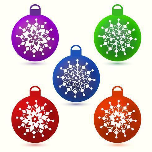 Set van kerstballen vector