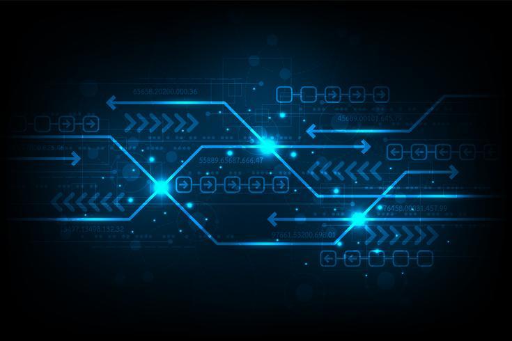 De uitwisseling van informatie in digitaal. vector