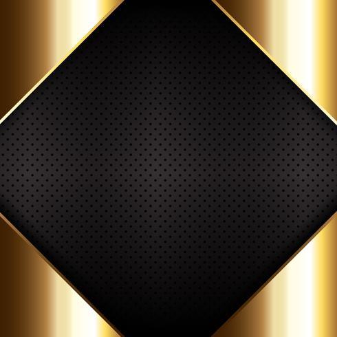 Goud metaal op geperforeerde metalen textuur vector