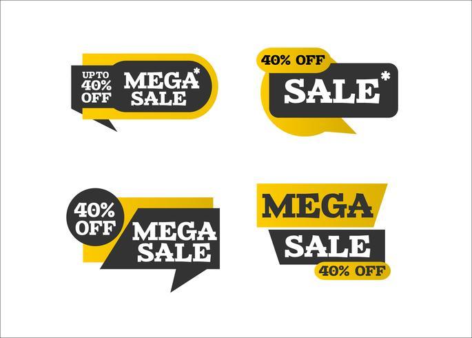 Creatieve moderne mega-verkooplinten vector