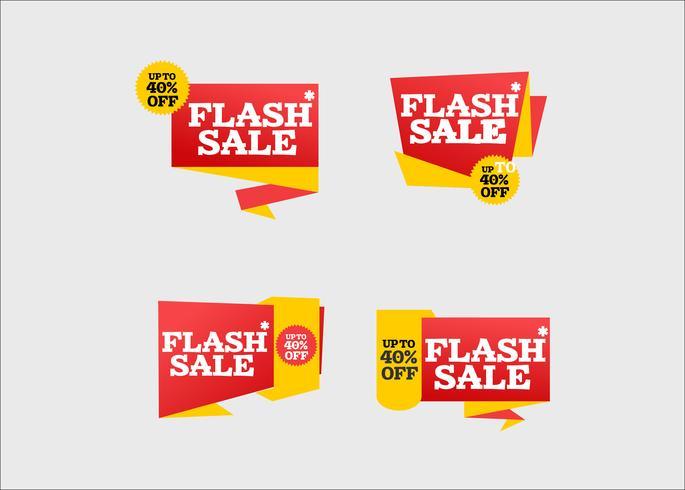 Moderne creatieve flash-verkoop winkellinten collectie vector