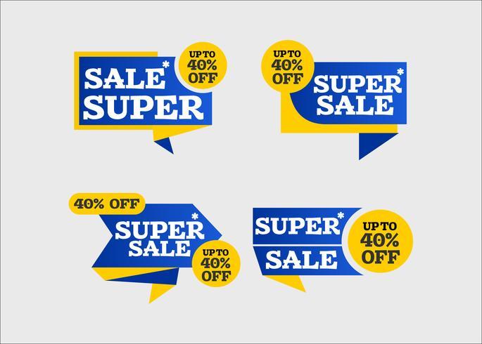 Super verkoop creatief winkelen lint tag kunst vector